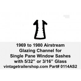 "Airstream 1969 to 1980 Vinyl Glazing for 5/32"" or 3/16"" Glass"