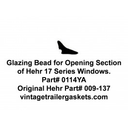Hehr Hallmark 17 Glazing Bead, Movable Section, for Vintage Hehr Awning Windows