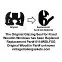 Woodlin Glazing Seal for Vintage Woodlin Stationary Windows
