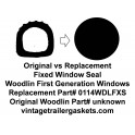 Woodlin Backframe Gasket for Fixed Window