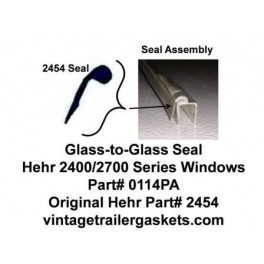Hehr 2400, 2401 Glass to Glass Seal for Hehr Jalousie Windows