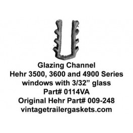 Hehr 3500 3501 3600 3601 Glazing Channel for 3/32 Inch Glass
