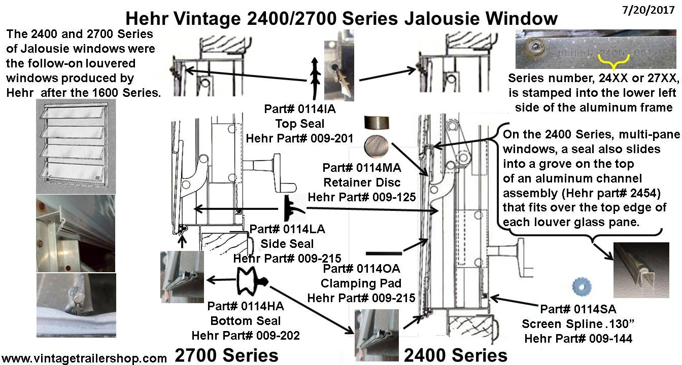 Gaskets Seals And Rubber For Vintage Hehr Woodlin Windows 1984 Airstream Wiring Diagram 2400 2700 Series Window Chart 072017