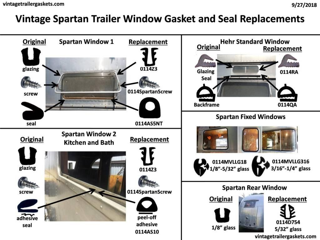 Gaskets and Seals for Vintage Spartan Windows